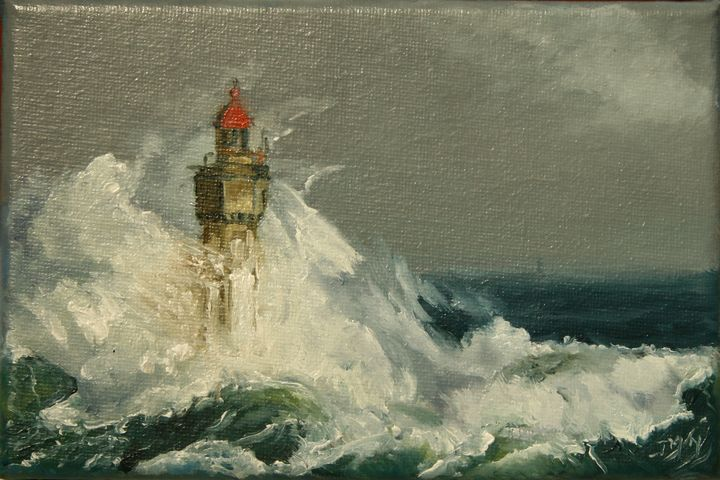 "Phare "" La Jument "" Ouessant - Jean-marie Nicol"