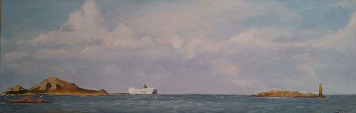 Ferry au départ de Roscoff ( Vendu ) - Jean-marie Nicol