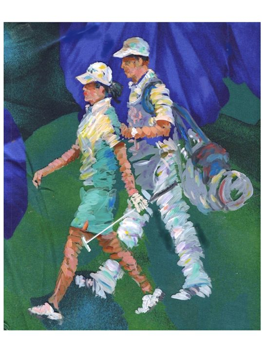 Lady Pro Golfer - artistcollection