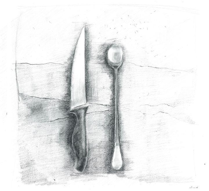 Knife and Spoon (Cutlery). - Elna Romanov
