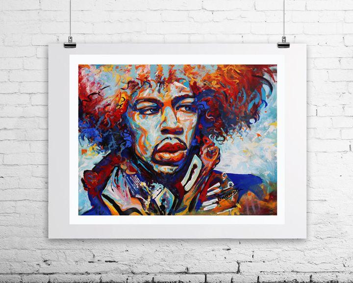 Jimi Hendrix American musician - Franco Galley