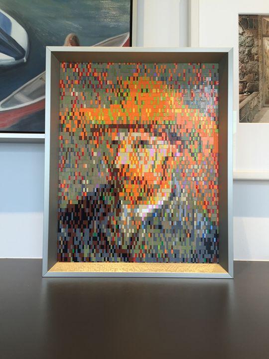 Lego Mosaic - Van Gogh Self Portrait - Lego Mosaic