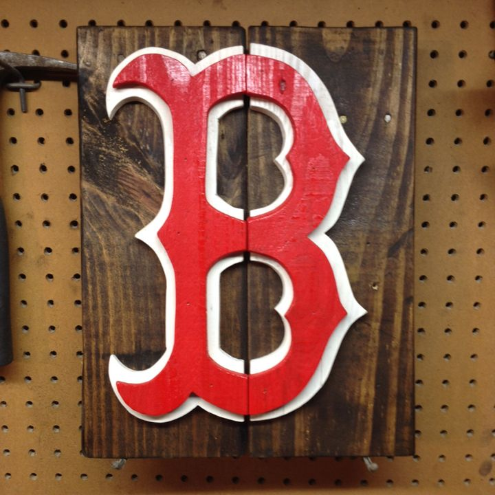 Boston Red Sox Rustic Wood Sign - ABS Sports Art & ABS Wood Works