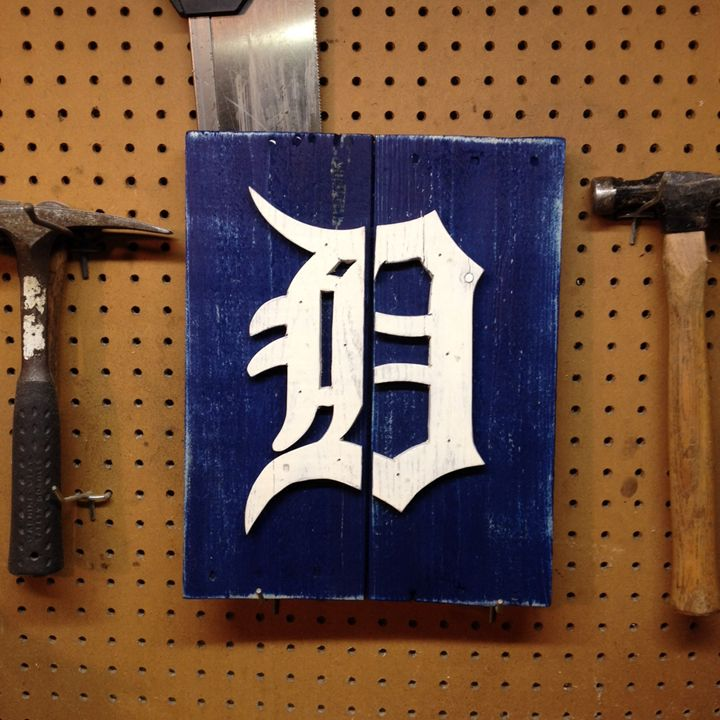 Detroit Tigers Rustic Wood Sign - ABS Sports Art & ABS Wood Works