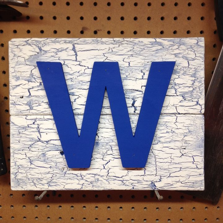 Chicago Cubs Fly The W Wooden Sign Abs Sports Art Abs Wood Works