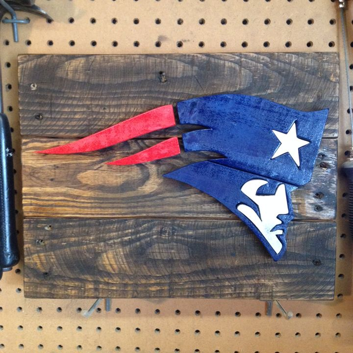 New England Patriots Wood Sign - ABS Sports Art & ABS Wood Works