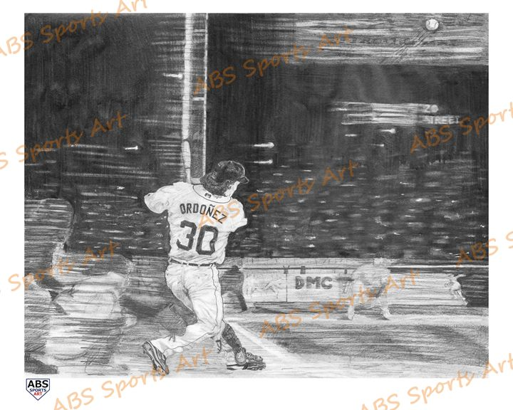 Magglio Ordonez 16 x 20 Print - ABS Sports Art & ABS Wood Works