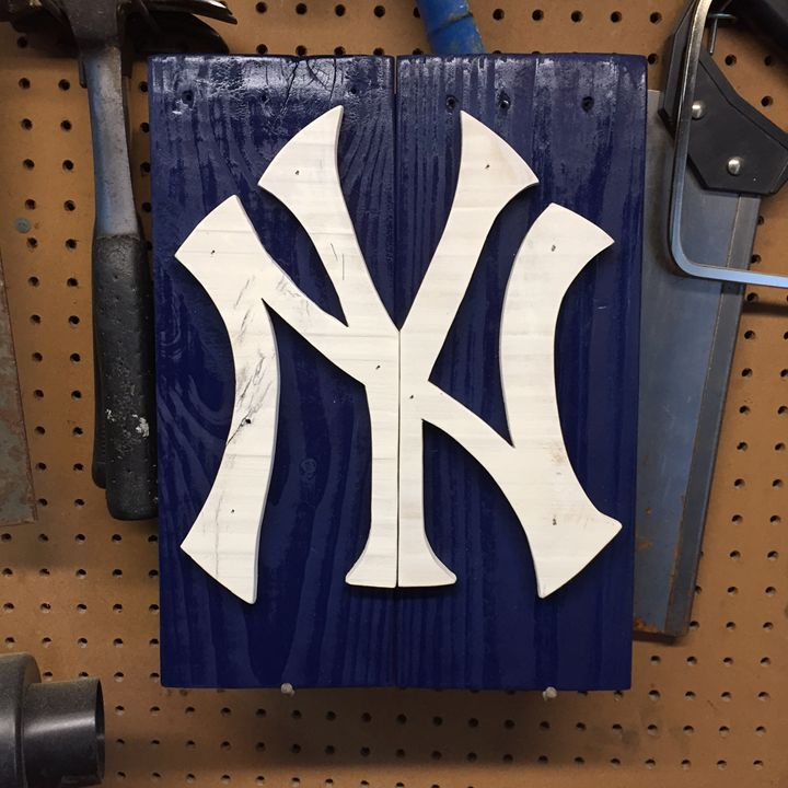 New York Yankees Rustic Wood Sign - ABS Sports Art & ABS Wood Works