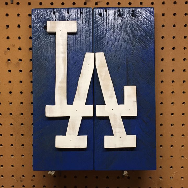 Los Angeles Dodgers Rustic Wood Sign - ABS Sports Art & ABS Wood Works
