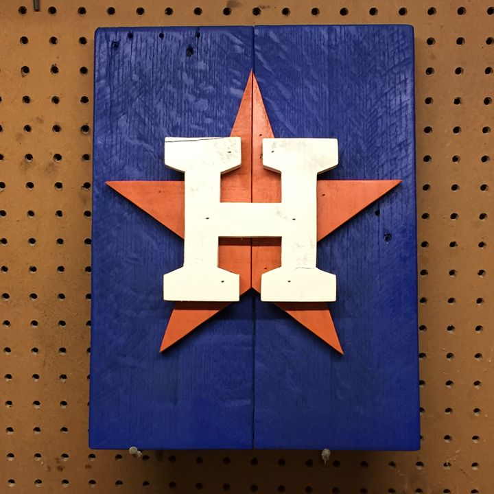 Houston Astros Rustic Wood Sign - ABS Sports Art & ABS Wood Works