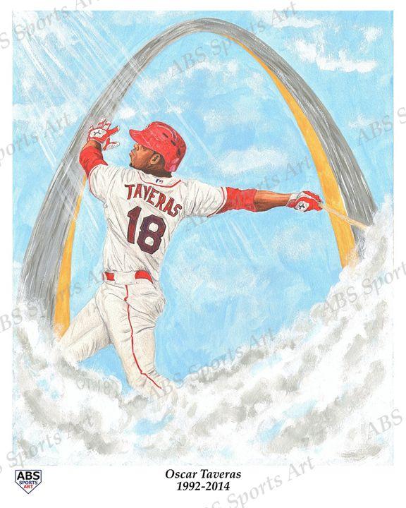 Oscar Taveras Tribute Print - ABS Sports Art & ABS Wood Works