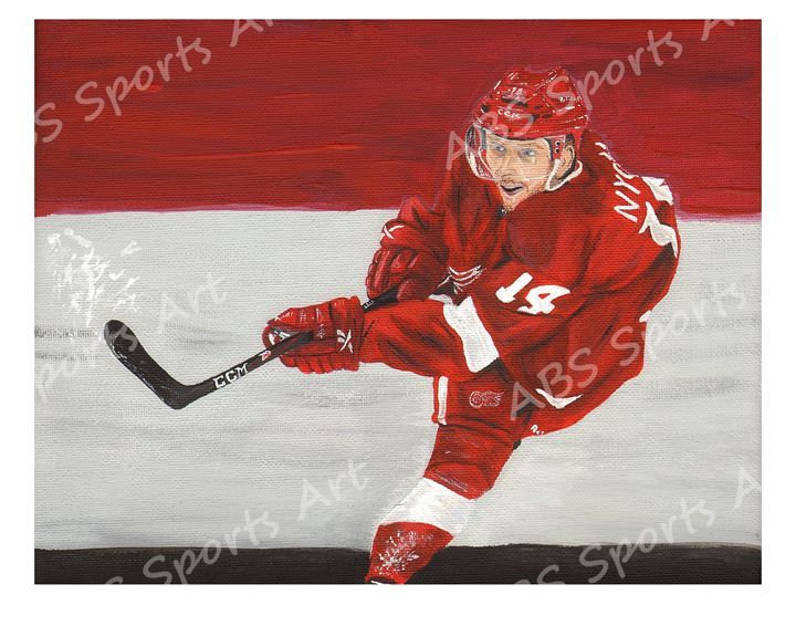 Gustav Nyquist 11 x 14 inch Print - ABS Sports Art & ABS Wood Works