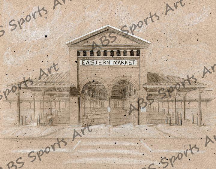 Eastern Market 11 x 14 Print - ABS Sports Art & ABS Wood Works