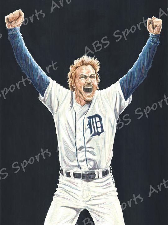 Kirk Gibson Detroit Tigers Art Print - ABS Sports Art & ABS Wood Works
