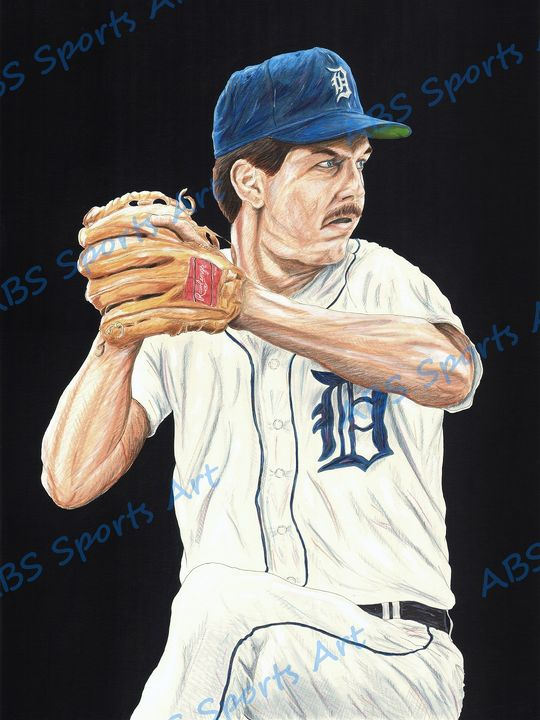 Dan Petry Fine Art Print - ABS Sports Art & ABS Wood Works