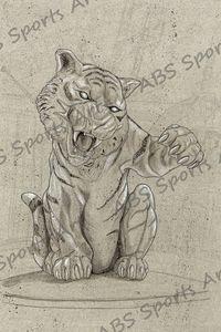 Comerica Park Big Tiger Print 12x18
