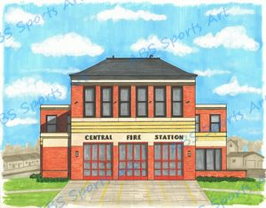 Central Fire Station 11 x 14 Print