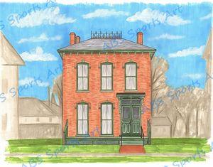 Marx Historic Home 11 x 14 Print