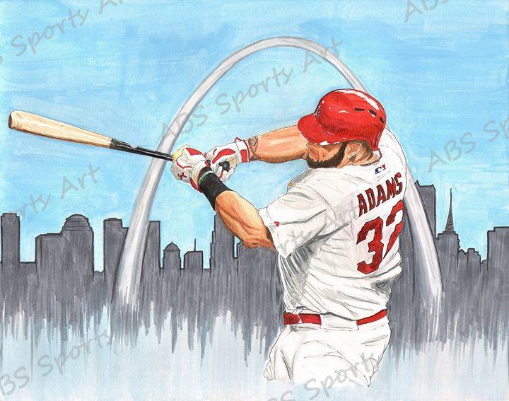 Matt Adams 11 x 14 Inch Print - ABS Sports Art & ABS Wood Works