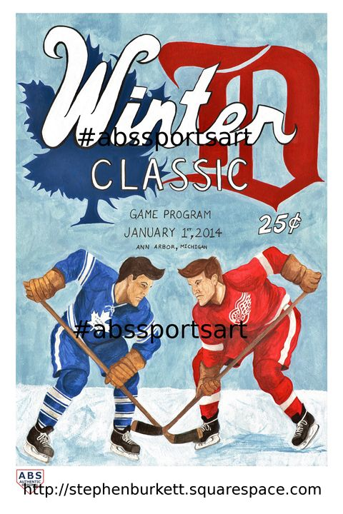 Red Wings Maple Leafs Winter Classic - ABS Sports Art & ABS Wood Works