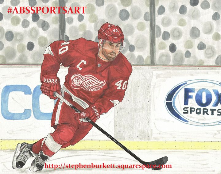 Henrik Zetterberg 11 x 14 Inch Print - ABS Sports Art & ABS Wood Works