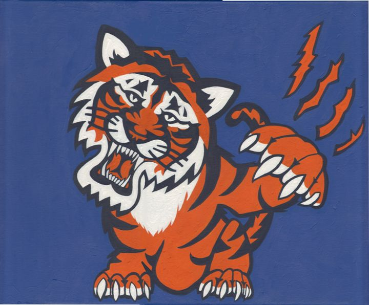 Tigers Roar Original Painting - ABS Sports Art & ABS Wood Works