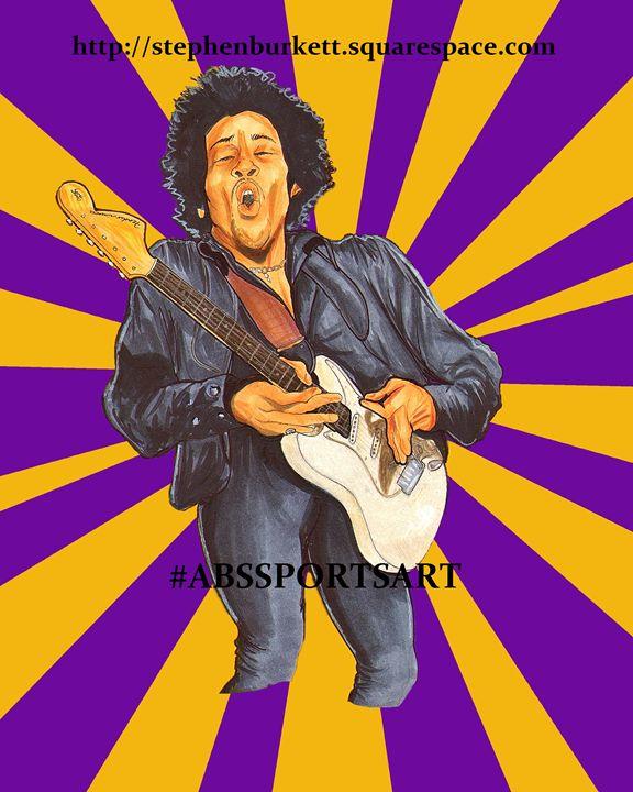 Jimi Hendrix 8 x 10 Inch Print - ABS Sports Art & ABS Wood Works