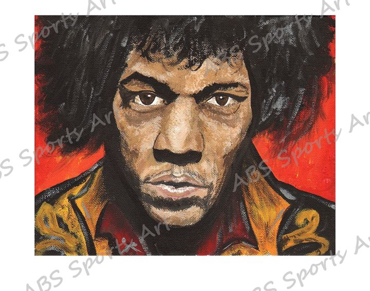 Jimi Hendrix Gypsy Eyes Print - ABS Sports Art & ABS Wood Works