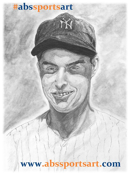 Joe DiMaggio 8 x 10 Inch Print - ABS Sports Art & ABS Wood Works