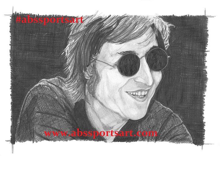 John Lennon 11 x 14 Inch Print - ABS Sports Art & ABS Wood Works