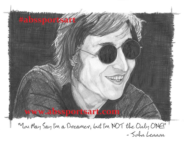 John Lennon 11 x 14 Print with Quote - ABS Sports Art & ABS Wood Works