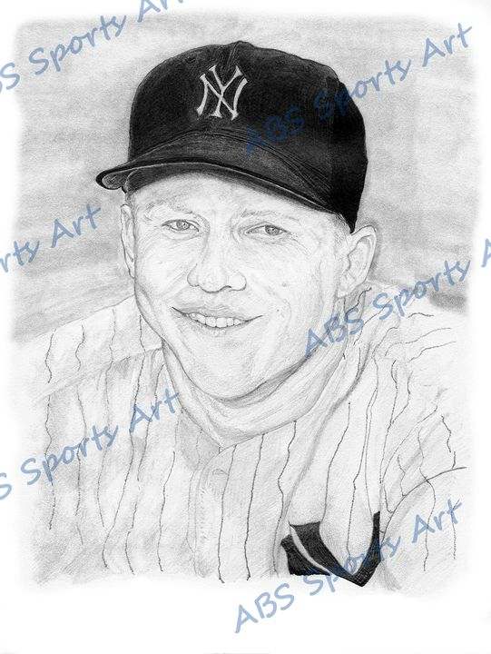 Mickey Mantle 8 x 10 Inch Print - ABS Sports Art & ABS Wood Works