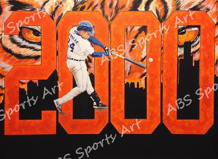 Miguel Cabrera Ltd. Ed. Print - ABS Sports Art & ABS Wood Works