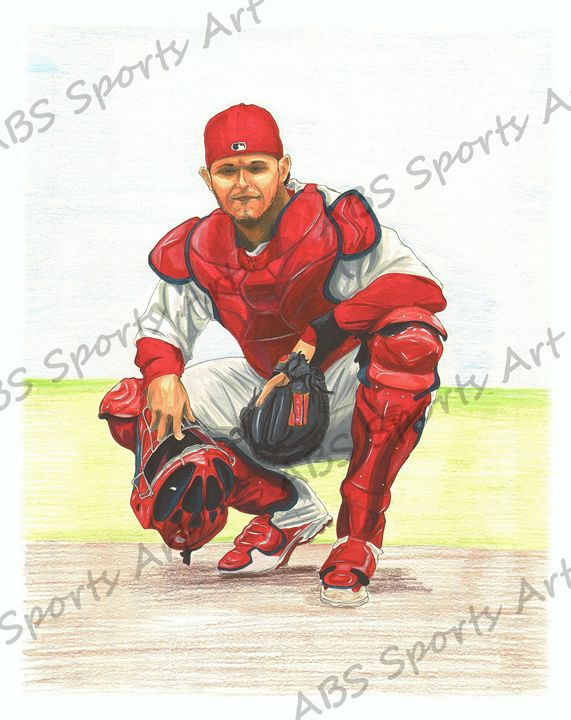 Yadier Molina 11 x 14 in. Print - ABS Sports Art & ABS Wood Works