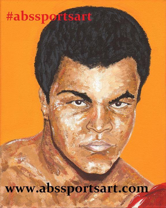Muhammad Ali 11 x 14 Print - ABS Sports Art & ABS Wood Works