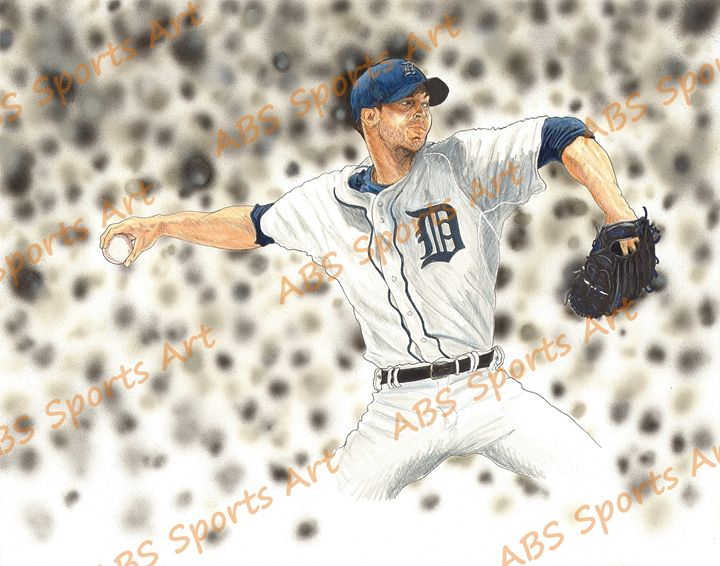 Rick Porcello 11 x 14 inch Print - ABS Sports Art & ABS Wood Works