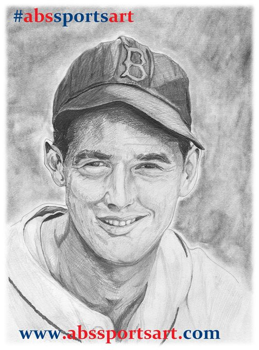 Ted Williams 8 x 10 Inch Print - ABS Sports Art & ABS Wood Works