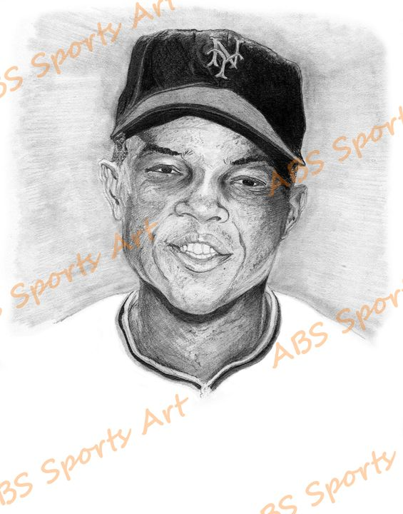 Willie Mays 8 x 10 inch Print - ABS Sports Art & ABS Wood Works