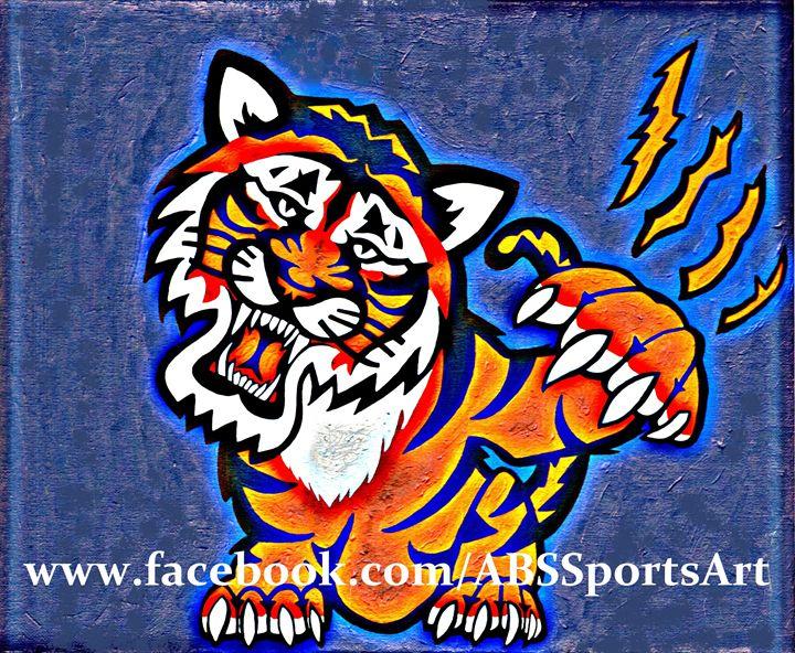 Detroit Tigers Roar Metallic Print - ABS Sports Art & ABS Wood Works