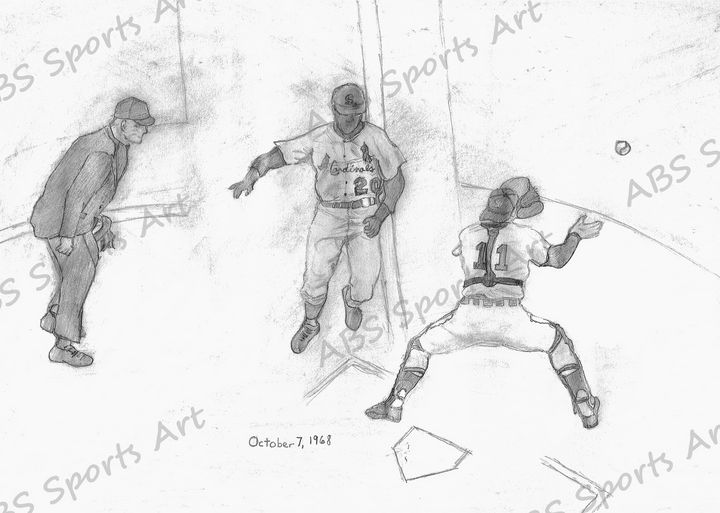 1968 World Series Game 5 Art Print - ABS Sports Art & ABS Wood Works