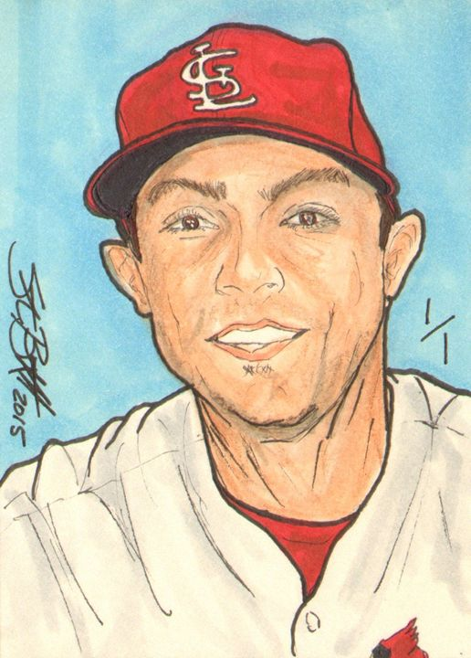 Randal Grichuk Sketch Card 1/1 - ABS Sports Art & ABS Wood Works