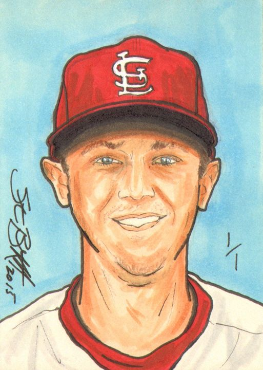 Stephen Piscotty Sketch Card 1/1 - ABS Sports Art & ABS Wood Works