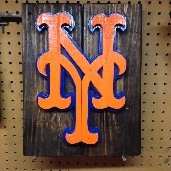 New York Mets Rustic Wood Sign - ABS Sports Art & ABS Wood Works