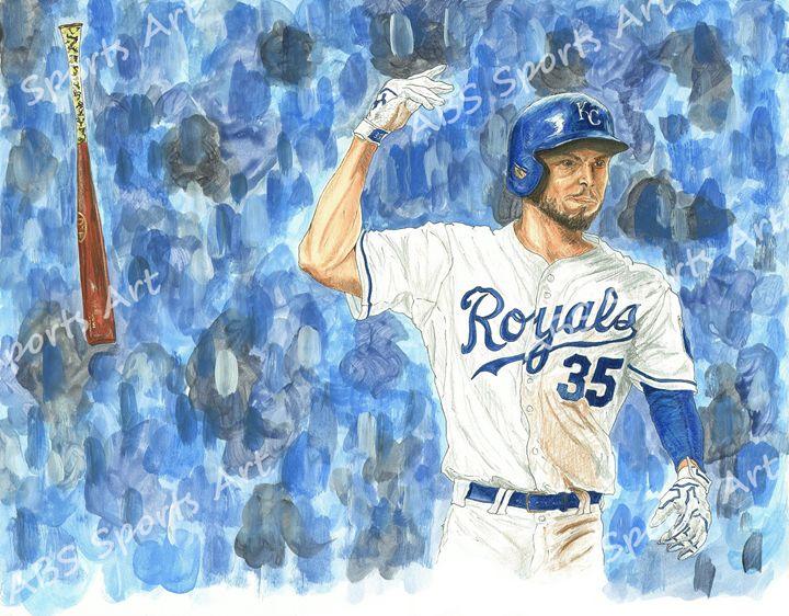 Eric Hosmer World Series Art Print - ABS Sports Art & ABS Wood Works