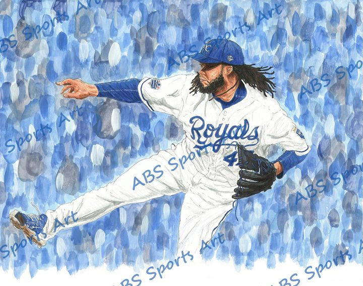 Johnny Cueto World Series Art Print - ABS Sports Art & ABS Wood Works