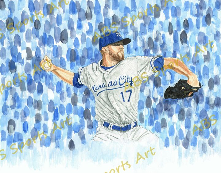 Wade Davis 2015 World Series Print - ABS Sports Art & ABS Wood Works