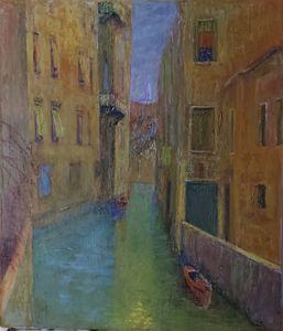 """""""Il Rio degli Albrizzi"""" Venezia 1930"""