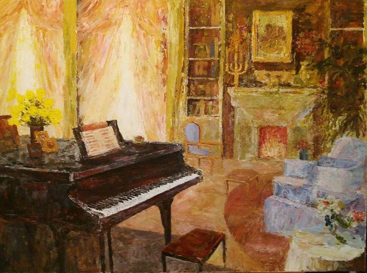 Interior with piano - paunovicart