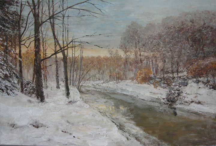 """Winter motif and river"" - paunovicart"