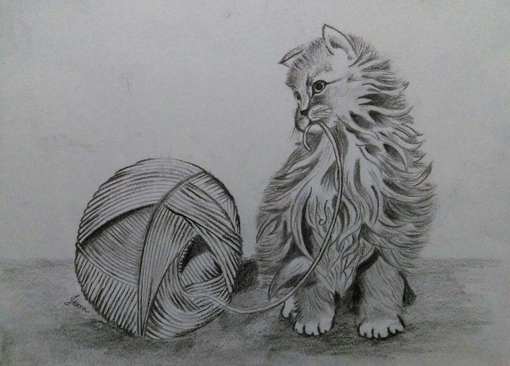 Playing kitten - Joshna
